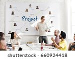 marketing research team project ... | Shutterstock . vector #660924418