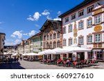 BAD TOELZ, GERMANY - JUNE 28: old town of bad toelz - bavaria on june 28, 2016 - stock photo