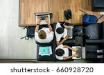 group of diverse high school... | Shutterstock . vector #660928720