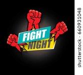 fight night vector modern... | Shutterstock .eps vector #660931048