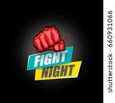 fight night vector modern... | Shutterstock .eps vector #660931066