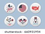 steel round badges set.... | Shutterstock .eps vector #660931954