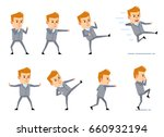 set of businessman characters... | Shutterstock .eps vector #660932194