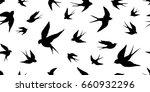 swallow bird vector seamless...   Shutterstock .eps vector #660932296