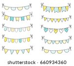 blue and yellow fresh summer... | Shutterstock .eps vector #660934360