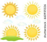 cartoon sun set   Shutterstock .eps vector #660935326