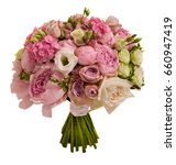 pink wedding bouquet with roses ... | Shutterstock . vector #660947419