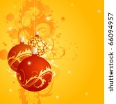 a square christmas card with... | Shutterstock .eps vector #66094957