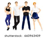 illustration of young man in... | Shutterstock .eps vector #660963409