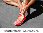 low section of female athlete... | Shutterstock . vector #660966976
