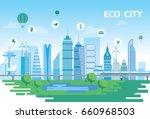 eco city  | Shutterstock .eps vector #660968503