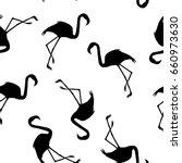 flamingo pattern  vector ... | Shutterstock .eps vector #660973630