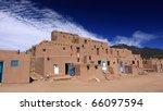 taos pueblo  new mexico | Shutterstock . vector #66097594