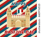 bastille fortress with french... | Shutterstock .eps vector #660976510