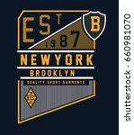 brooklyn typography  t shirt... | Shutterstock .eps vector #660981070