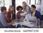 young business team working... | Shutterstock . vector #660987250