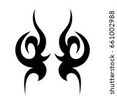 tribal tattoo art designs.... | Shutterstock .eps vector #661002988