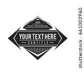 vector vintage black monochrome ... | Shutterstock .eps vector #661003960