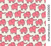 seamless pattern with cute pink ... | Shutterstock .eps vector #661006000