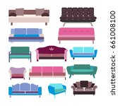 vector sofa set icon... | Shutterstock .eps vector #661008100