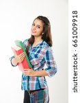 indian college girl  portrait...   Shutterstock . vector #661009918