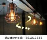 classy industrial ceiling... | Shutterstock . vector #661013866
