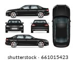 black car vector template for... | Shutterstock .eps vector #661015423