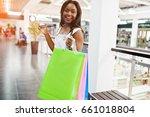 beautiful black african... | Shutterstock . vector #661018804