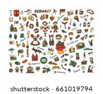 germany icons set. sketch for... | Shutterstock .eps vector #661019794