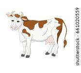 vector of cow | Shutterstock .eps vector #661020559