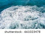 deep blue stormy sea water... | Shutterstock . vector #661023478