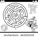 black and white cartoon vector... | Shutterstock .eps vector #661031410