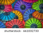 colored paper traditional... | Shutterstock . vector #661032733