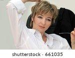 woman in her office   Shutterstock . vector #661035