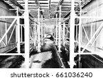 heavy duty scaffold  | Shutterstock . vector #661036240
