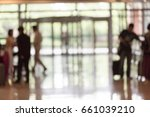 hotel lobby with gates | Shutterstock . vector #661039210