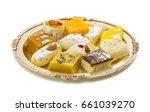 indian delicious mix sweet food ... | Shutterstock . vector #661039270
