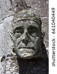 Carved Head  Gargoyle  On The...