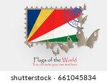 vector flag measurements with... | Shutterstock .eps vector #661045834