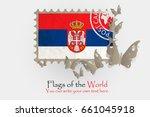vector flag measurements with... | Shutterstock .eps vector #661045918