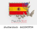 vector flag measurements with... | Shutterstock .eps vector #661045954