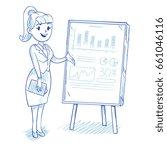 businesswoman presenting... | Shutterstock . vector #661046116
