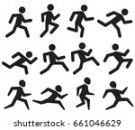 man running figure black... | Shutterstock . vector #661046629