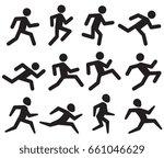 man running figure black... | Shutterstock . vector #661046629