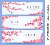wedding banners template with... | Shutterstock . vector #661046689