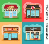 restaurant or fast food store... | Shutterstock . vector #661052968