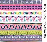 navajo abstract seamless pattern | Shutterstock .eps vector #661053568