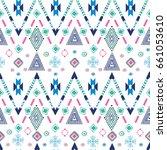 navajo abstract seamless pattern | Shutterstock .eps vector #661053610