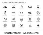 digitilization vector icons for ... | Shutterstock .eps vector #661053898