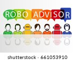 robo advisor concept as vector... | Shutterstock .eps vector #661053910